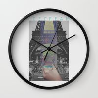 icecream Wall Clocks featuring Icecream by john muyargas