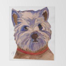 West highland terrier Westie dog love Throw Blanket