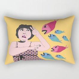 pez koi ataque Rectangular Pillow