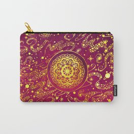 SPACE MANDALA PINK AND GOLD Carry-All Pouch