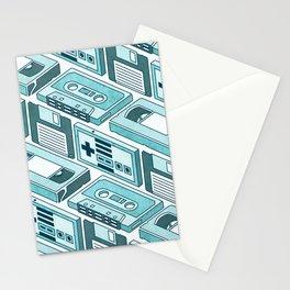 90's pattern-blue Stationery Cards