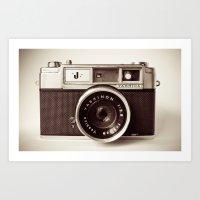 vintage camera Art Prints featuring Camera by Tuky Waingan