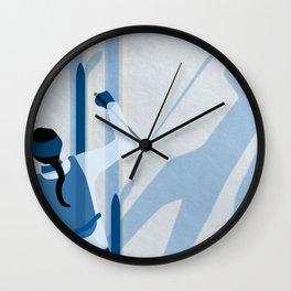 Birkebeinerrennet Birkebeiner Nordic Skiing by Dennis Weber ShreddyStudio Wall Clock