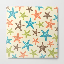 Colorful Starfish Pattern 240 Metal Print