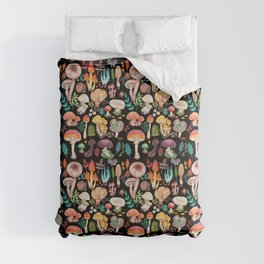 Mushroom heart Comforters