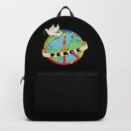 World Peace, Dove, Peace Sign, Earth Backpack