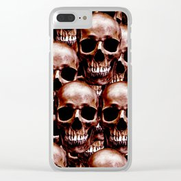 LG skull wall Clear iPhone Case