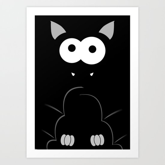 Minimal Bat Art Print