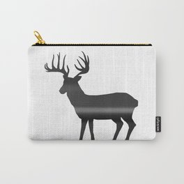 Deer print, Black & White Carry-All Pouch