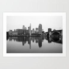 Minneapolis Skyline.  Art Print