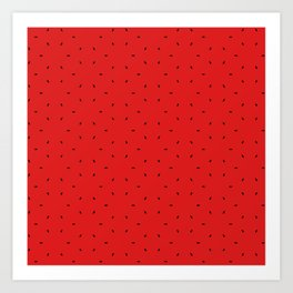Red And Black subtle pattern Art Print