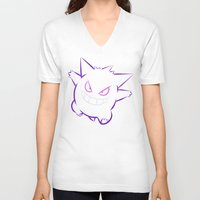 gengar V-neck T-shirts featuring Gengar by Proxish Designs