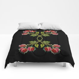 Embroidered Scandi Flowers Comforters