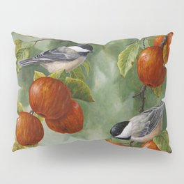 Chickadees and Apple Tree Harvest Pillow Sham