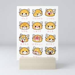 Retsuko Emotions Mini Art Print