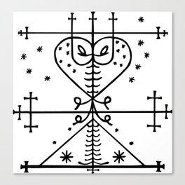 Maman Brigitte Veve Spirit World Blessings Voodoo Goddess Canvas Print