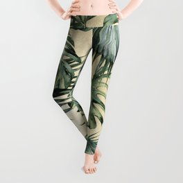 Palm Leaves Classic Linen Leggings