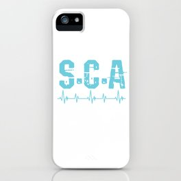 Medical Surgeon Physician Hospital Health Gift S.C.A Survivor CPR Doctor iPhone Case