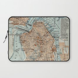 Vintage Map of Boston MA (1906) 2 Laptop Sleeve