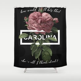 Harry Styles Carolina graphic artwork Shower Curtain