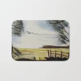 The field of horses Bath Mat