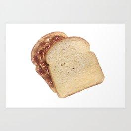 Peanut Butter and Jelly Sandwich Art Print