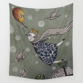 You can fly, Mary! Wall Tapestry