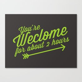 Welcome Mat Canvas Print