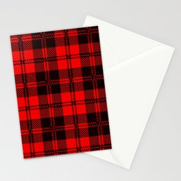 Tartan Wool Material Stationery Cards