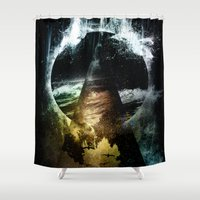 child Shower Curtains featuring Thunder child by HappyMelvin