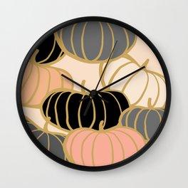 Retro Pumpkin Pattern 1 Wall Clock