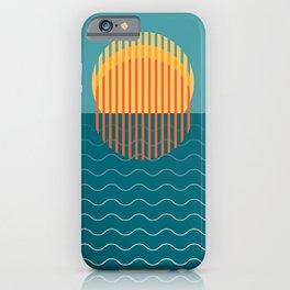 Minimalist Sunset Over Ocean, Travel Print, Sun Set Poster, Large Printable Photography, Wall Art iPhone Case