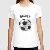 soccer T-shirts featuring Soccer by Matthias Leutwyler