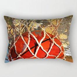 Basketball and net Rectangular Pillow