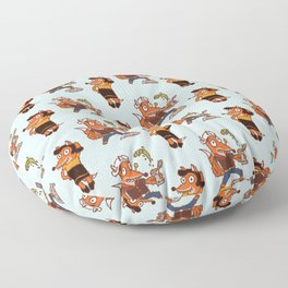 Popeye And Olive Fox Floor Pillow