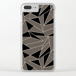 Geometric Abstract Origami Inspired Pattern Clear iPhone Case