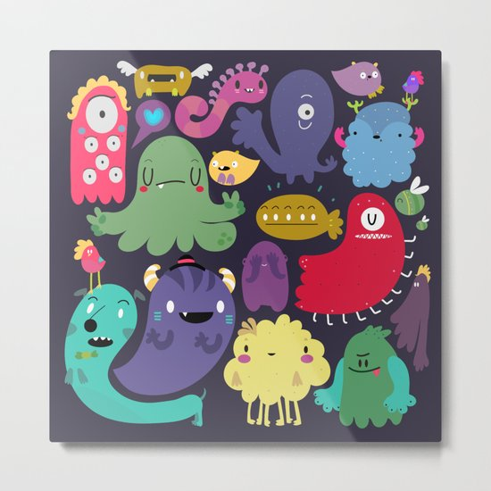 Colorful creatures Metal Print