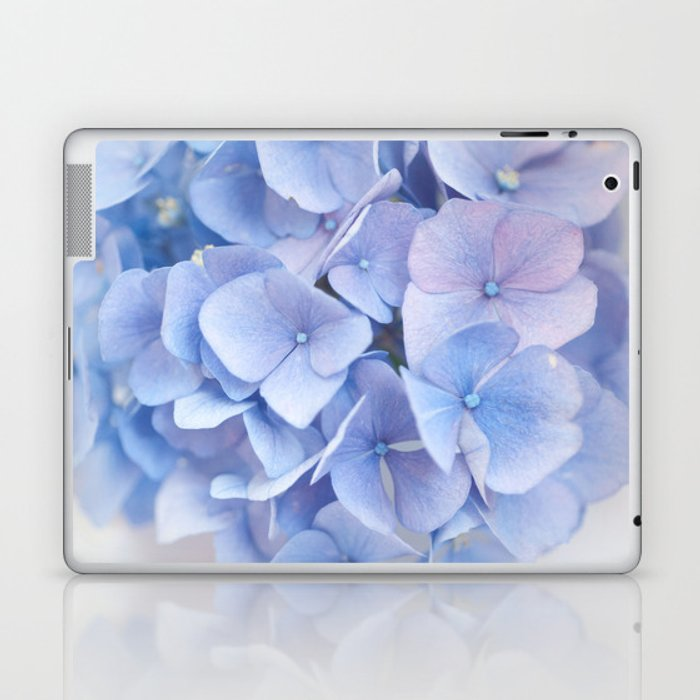Blue Hydrangeas #3 #decor #art #society6 Laptop & iPad Skin
