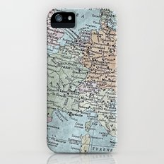 old map of Europe iPhone (5, 5s) Slim Case