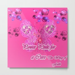 Power Pink for a Cure - The Wings of Faith Metal Print