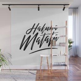 Hakuna Matata (Black on White) Wall Mural