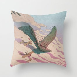 The ancient eagle Throw Pillow