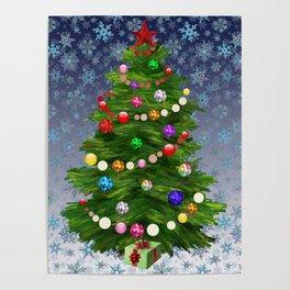 Christmas tree & snow v.2 Poster