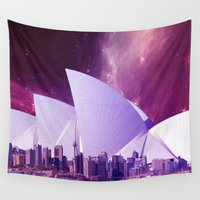sydney Wall Tapestries featuring Hipsterland - Sydney by Alejo Malia