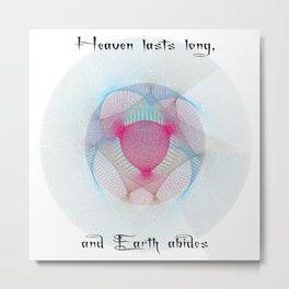 Mandala Astronomy Art Science Art Tao Teh Ching Metal Print