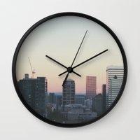 portland Wall Clocks featuring Portland by Hannah Kemp