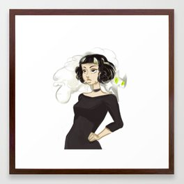 Nasty Girl feat. Cigarette Cat Framed Art Print