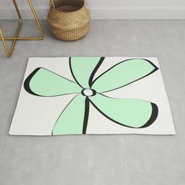 Green Daisy Rug