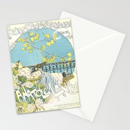 """Théophile Steinlen """"Sheet music: Nuit mystérieuse by Anatole Lancel"""" Stationery Cards"""