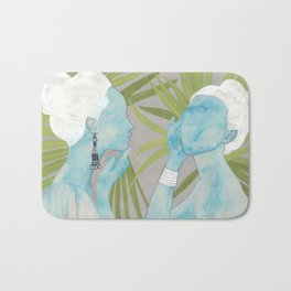 girls with silver jewelry / palmiye II Bath Mat